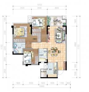 D2 3室2厅2卫-97㎡